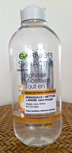Revue : Skinactive Biphase Micellaire Tout en 1 deGarnier