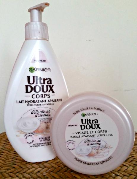Revue : la gamme hydratante pour le corps Ultra Doux Délicatesse d'Avoine deGarnier