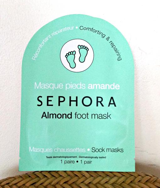 Revue : le masque pieds à l'amande deSephora