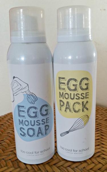 Revue : Egg Mousse Soap & Egg Mousse Pack, le duo pour le visage de Too Cool forSchool