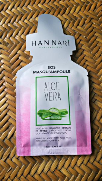 Le SOS Masqu'Ampoule à l'Aloe vera d'Han Nari : hyper agréable!