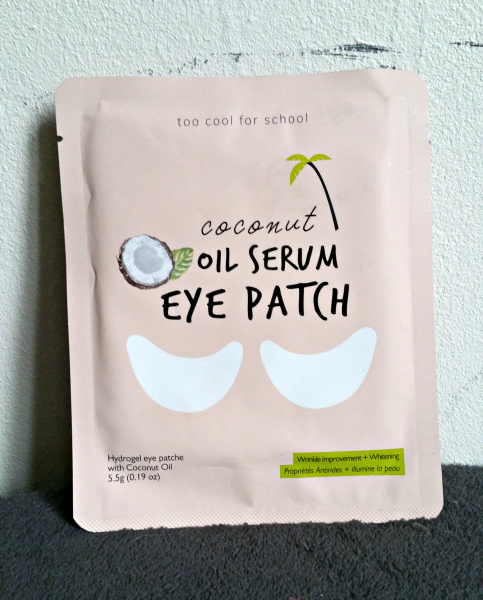 Le Coconut Oil Serum Eye Patch de Too Cool for School : top!