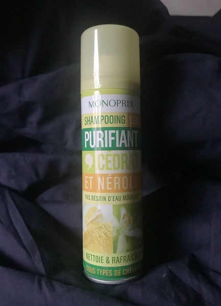 #empties #13 - jadebeautytips - monoprix - shampooing sec cedrat